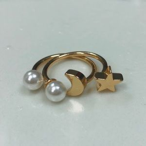 Best Friend Star and Moon Rings (SET OF TWO)